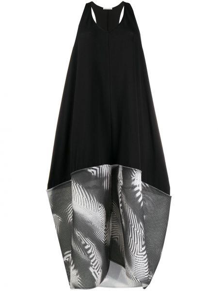 Платье миди сетчатое черное Stefano Mortari