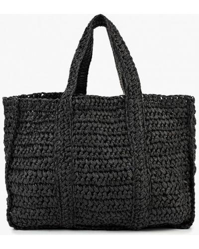 Черная пляжная сумка Mango