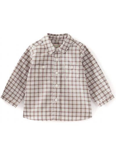 Коричневая рубашка Bonpoint