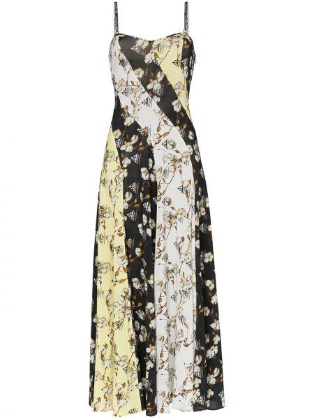 Белое платье с разрезом из вискозы Off-white