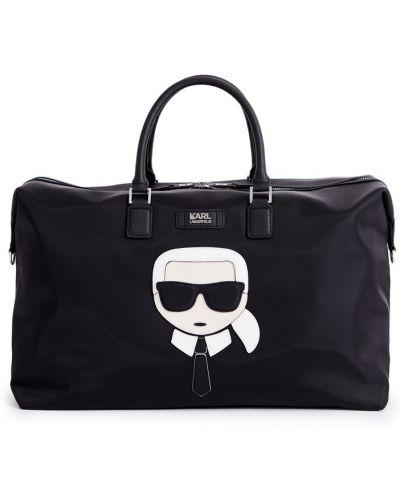 Кожаная сумка дорожняя большая Karl Lagerfeld