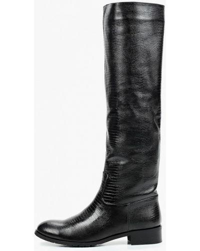 Лаковые черные кожаные сапоги Enzo Logana