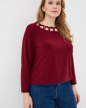 Блузка шелковая бордовый Dream World
