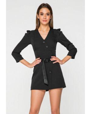 Комбинезон с шортами черный Itelle