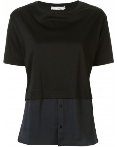Черная рубашка с коротким рукавом с лебяжьим пухом Knott