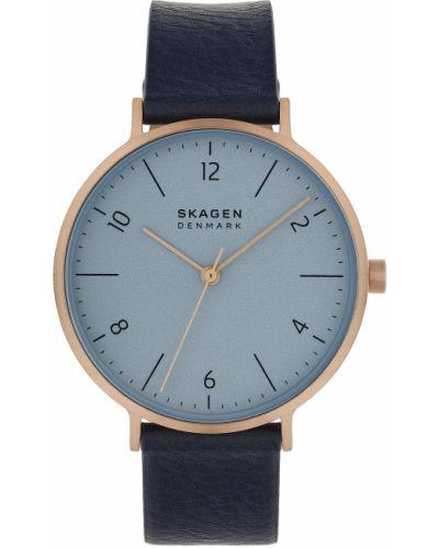 Niebieski zegarek z siateczką Skagen