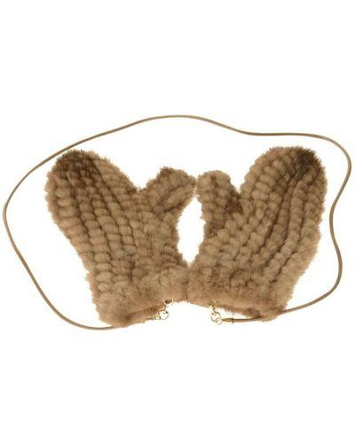 Brązowe rękawiczki Max Mara