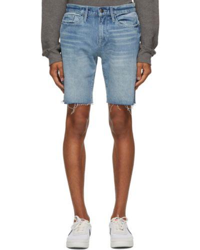Dom niebieski dżinsowe szorty rozciągać z mankietami Frame