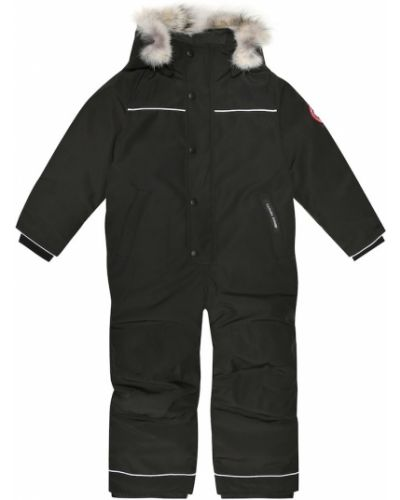 Czarna kurtka bawełniana Canada Goose Kids