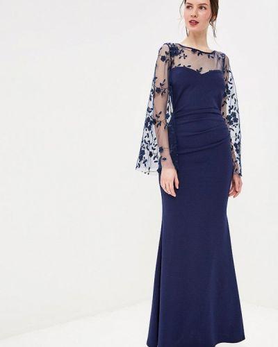 Вечернее платье весеннее синее Goddiva