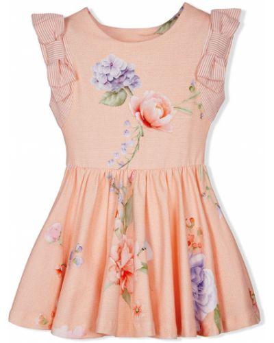 Розовая блузка без рукавов круглая Lapin House
