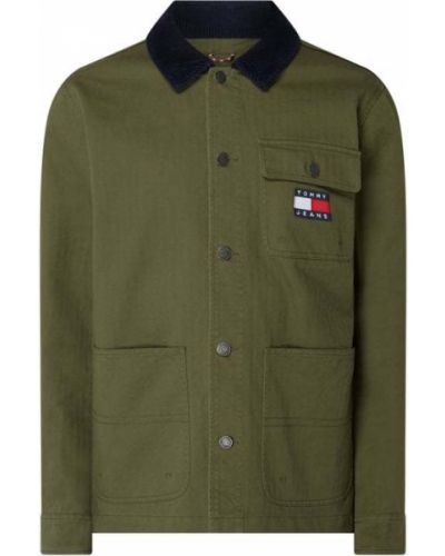 Bawełna zielony kurtka jeansowa z paskami Tommy Jeans