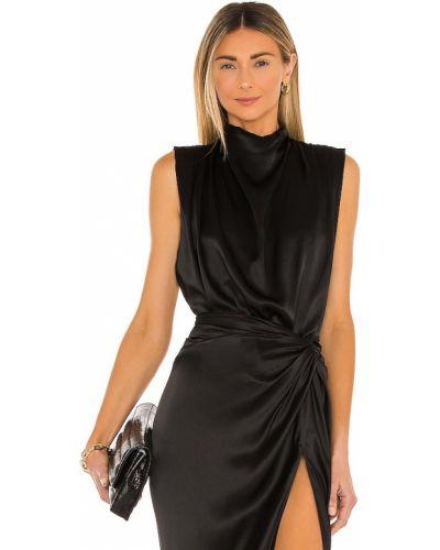 Текстильное черное боди матовое Amanda Uprichard