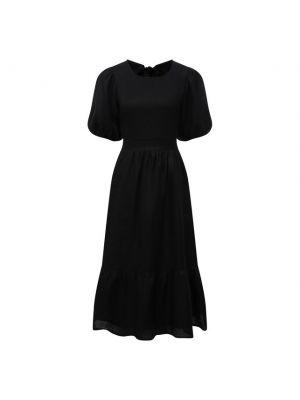 Льняное платье - черное Faithfull The Brand