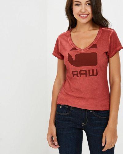 Красная футболка G-star