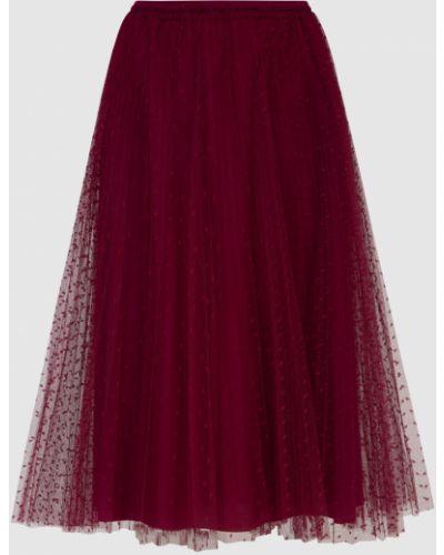 Красная юбка миди Red Valentino