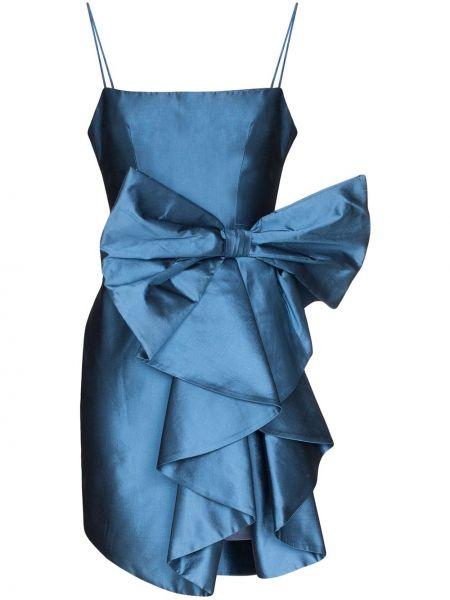 Платье мини на бретелях синее Rasario