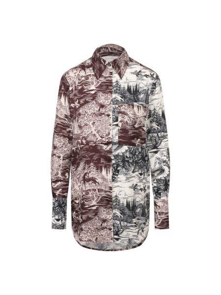 Джинсовая рубашка с принтом с карманами Victoria, Victoria Beckham