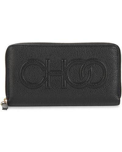 Кожаный кошелек - черный Jimmy Choo