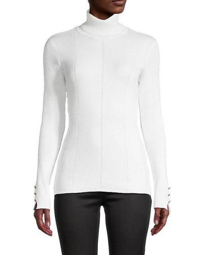 Приталенный бежевый длинный свитер с длинными рукавами T-tahari
