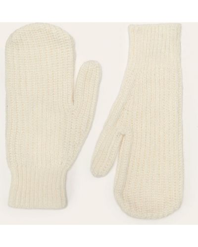 Białe rękawiczki wełniane Polo Ralph Lauren