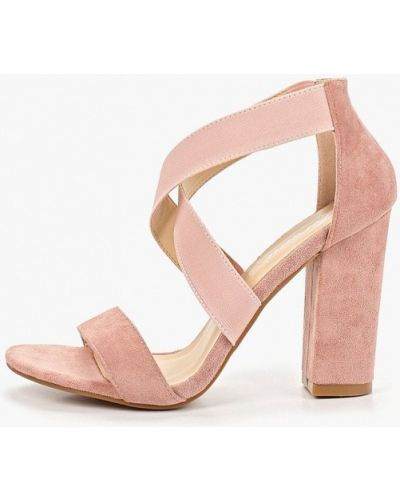 Босоножки на каблуке розовый Fersini