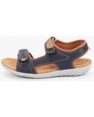 Синие кожаные сандалии Merrell