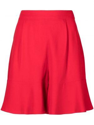 Красные с завышенной талией шорты из вискозы L'autre Chose