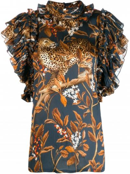 Блузка без рукавов с рюшами батник Johanna Ortiz