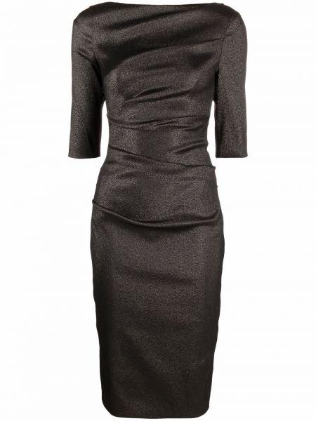 Платье футляр - черное Talbot Runhof