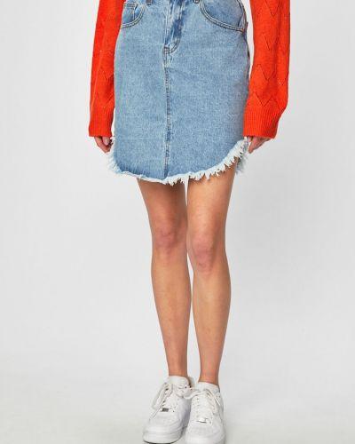 Юбка мини джинсовая на пуговицах Glamorous