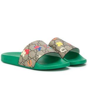 Шлепанцы с логотипом для обуви Gucci Kids