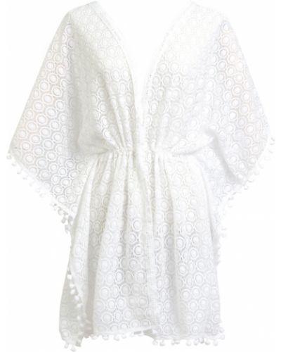 Ażurowa biała tunika Allora