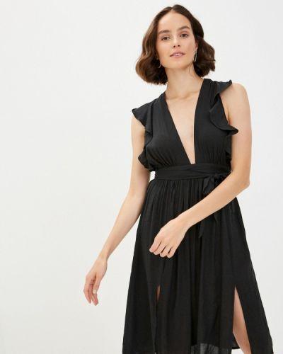 Прямое черное платье Glamorous