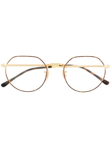 Oprawka do okularów metal okrągły złoto Ray-ban
