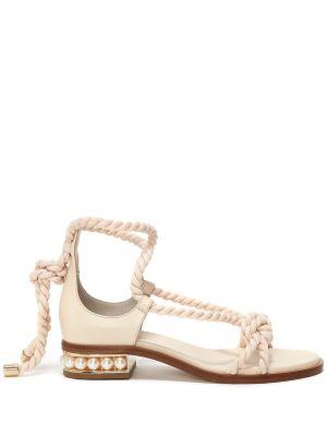 Sandały skorzane Nicholas Kirkwood