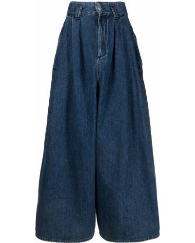 Синие укороченные джинсы с высокой посадкой на молнии Isabel Marant