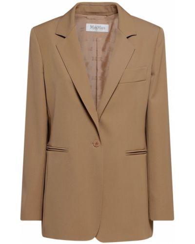 Коричневый пиджак с подкладкой на пуговицах Max Mara