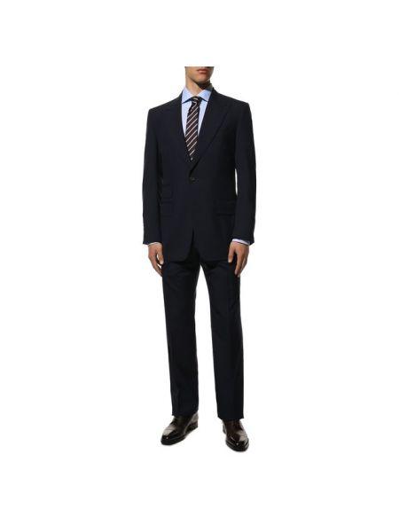 Шерстяной прямой костюмный приталенный костюм Tom Ford