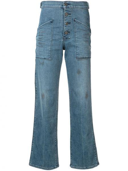Расклешенные джинсы зеленый офисные Rta