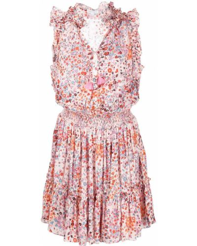 Платье мини короткое - розовое Poupette St Barth