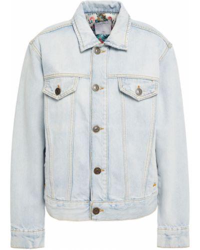 Ватная синяя джинсовая куртка с подкладкой Sandro