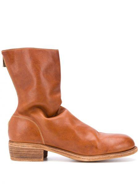 Buty skórzane brązowe Guidi