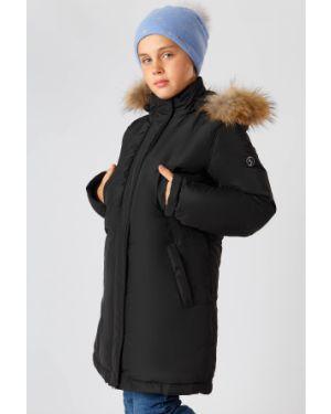 Пальто черное натуральный Finn Flare