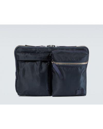 Niebieska torba podróżna z nylonu Sacai