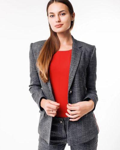 Пиджак удлиненный - серый Alito