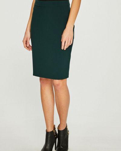 Długo spódnica z wiskozy zielony Answear