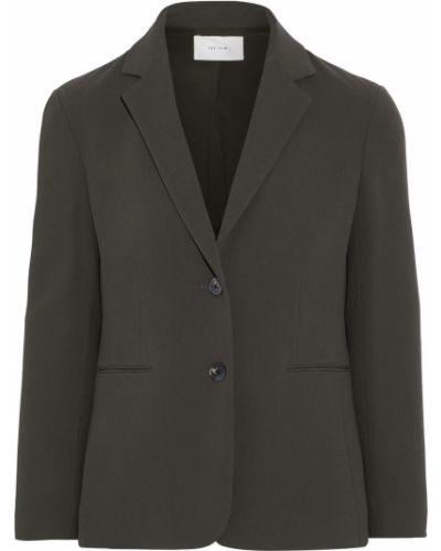 Серый пиджак с карманами из вискозы The Row