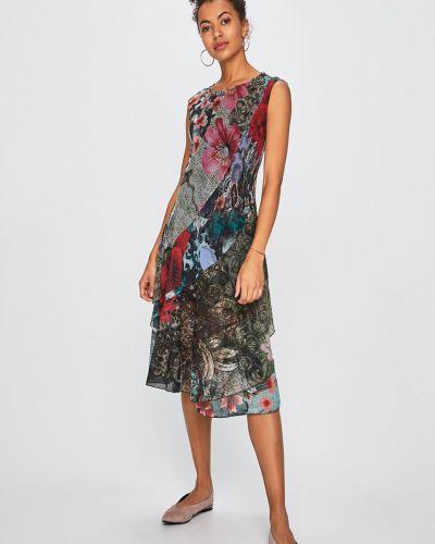 Платье миди прямое с вырезом Desigual