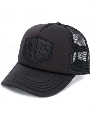 Czarna czapka z siateczką bawełniana Deus Ex Machina